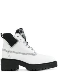 Botas de Cuero Blancas de Kenzo