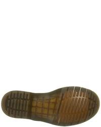 Botas de cuero burdeos de Dr. Martens