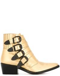 Botas de cuero doradas de Toga Pulla