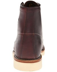 Botas de cuero en marrón oscuro de Chippewa