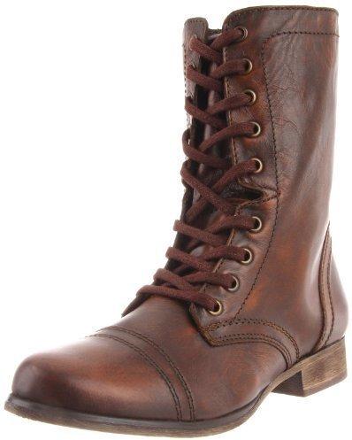12ffc44da92 ... Botas de cuero en marrón oscuro de Steve Madden ...
