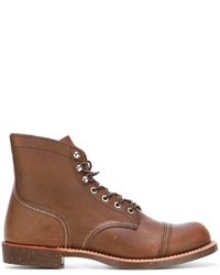 Botas de cuero en tabaco de Red Wing Shoes