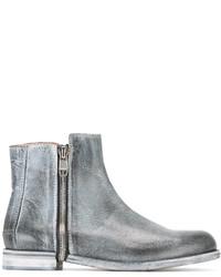 Botas de cuero grises de Diesel