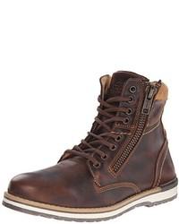 Botas de cuero marrónes de GBX
