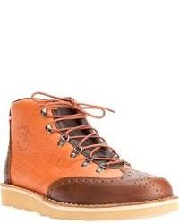 Botas de cuero naranjas