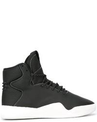 Botas de cuero negras de adidas
