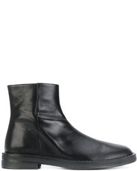 Botas de Cuero Negras de Ann Demeulemeester