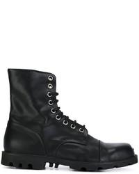 Botas de cuero negras de Diesel