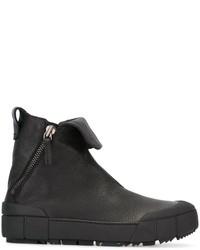 Botas de cuero negras de Emporio Armani
