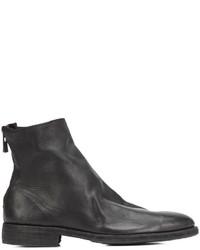 Botas de cuero negras de Guidi