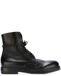 Botas de cuero negras de Marsèll