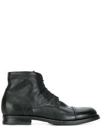 Botas de cuero negras de Pantanetti