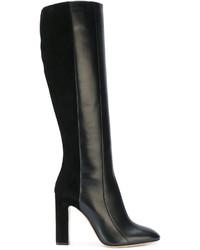 Botas de cuero negras de Salvatore Ferragamo