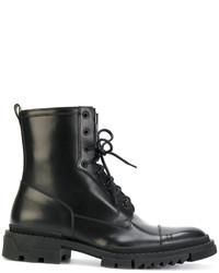 Botas de cuero negras de Versace