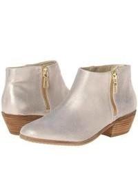 Comprar unas botas de cuero plateadas Pollini | Moda para