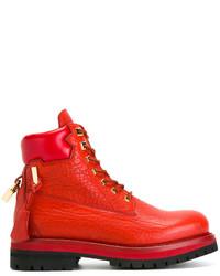 Botas de cuero rojas de Buscemi