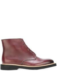 Botas de cuero rojas de Paul Smith