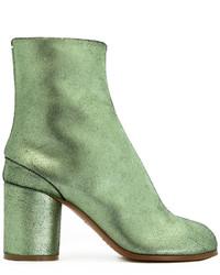 Botas de cuero verdes de Maison Margiela