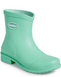 Botas de lluvia en verde menta