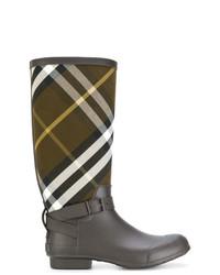 Botas de lluvia marrónes de Burberry