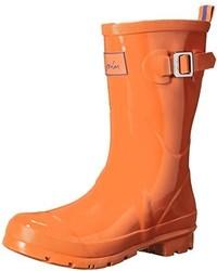 Botas de lluvia naranjas de Joules
