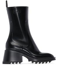 Botas de lluvia negras de Chloé