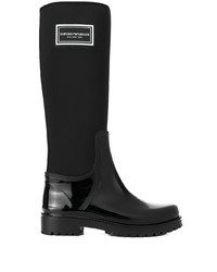 Botas de lluvia negras de Emporio Armani