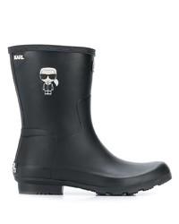 Botas de lluvia negras de Karl Lagerfeld