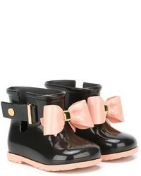 Botas de lluvia negras de Mini Melissa