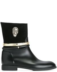 Botas de Lluvia Negras de Philipp Plein