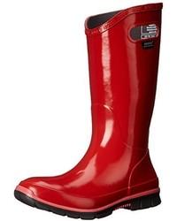 Botas de lluvia rojas de Bogs