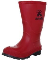 Botas de lluvia rojas de Kamik