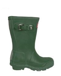 Botas de lluvia verde oscuro
