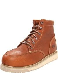 Botas de trabajo de cuero marrón claro de Timberland