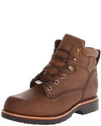 Botas de trabajo de cuero marrónes de Chippewa