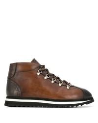 Botas de trabajo de cuero marrónes de Doucal's