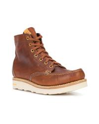 Botas de trabajo de cuero marrónes de VISVIM