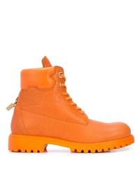 Botas de trabajo de cuero naranjas de Buscemi