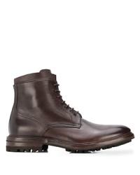 Botas formales de cuero en marrón oscuro de Henderson Baracco