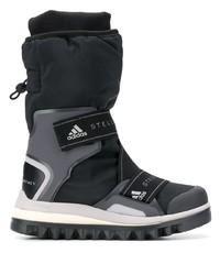 Botas para la nieve de lona negras de adidas by Stella McCartney