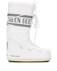 Botas para la nieve estampadas blancas de Moon Boot