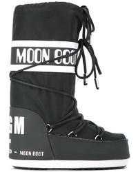 Botas para la Nieve Estampadas Negras de MSGM