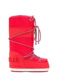 Botas para la nieve rojas de Moncler