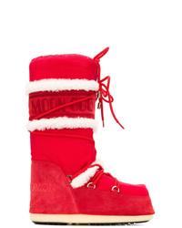Botas para la nieve rojas de Yves Salomon