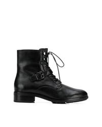 Botas planas con cordones de cuero negras de Högl