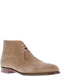 Botas safari de ante en beige de Crockett Jones