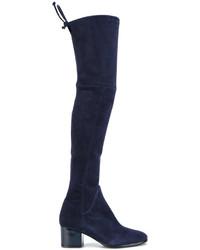 Botas sobre la Rodilla Azul Marino de Baldinini