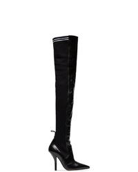 Botas sobre la rodilla de cuero negras de Fendi