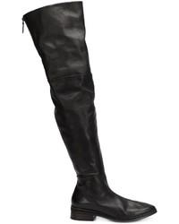 Botas sobre la rodilla de cuero negras de Marsèll