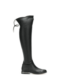 Botas sobre la rodilla de cuero negras de MICHAEL Michael Kors